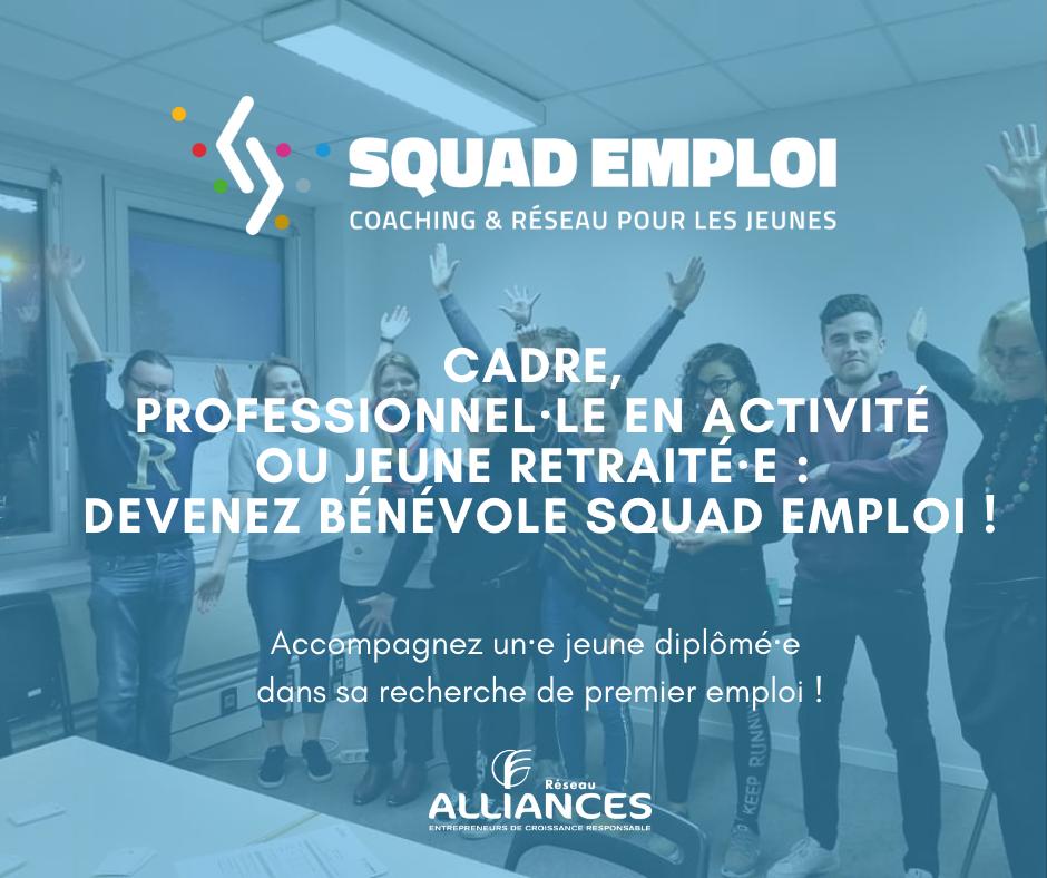 Devenez bénévole pour Squad Emploi