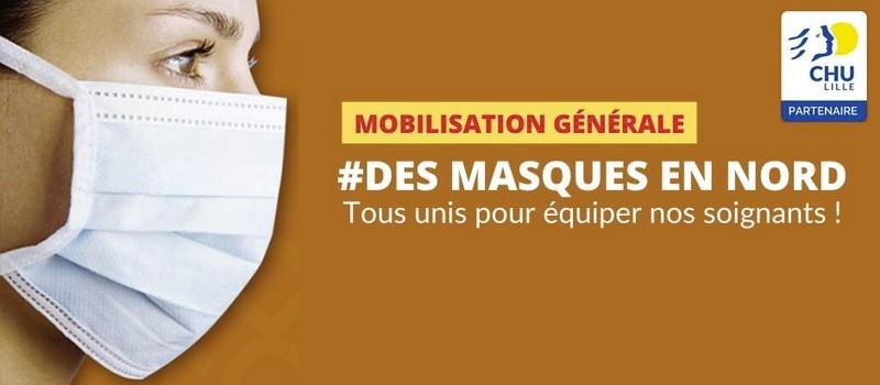 Rejoignez l'opération des Masques en Nord de Lemahieu et du CHU de Lille