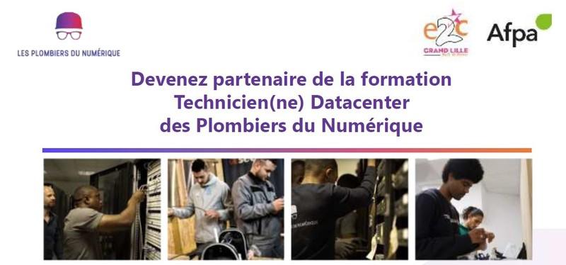 Devenez partenaire de la formation Technicien(ne) Datacenter des Plombiers du Numérique